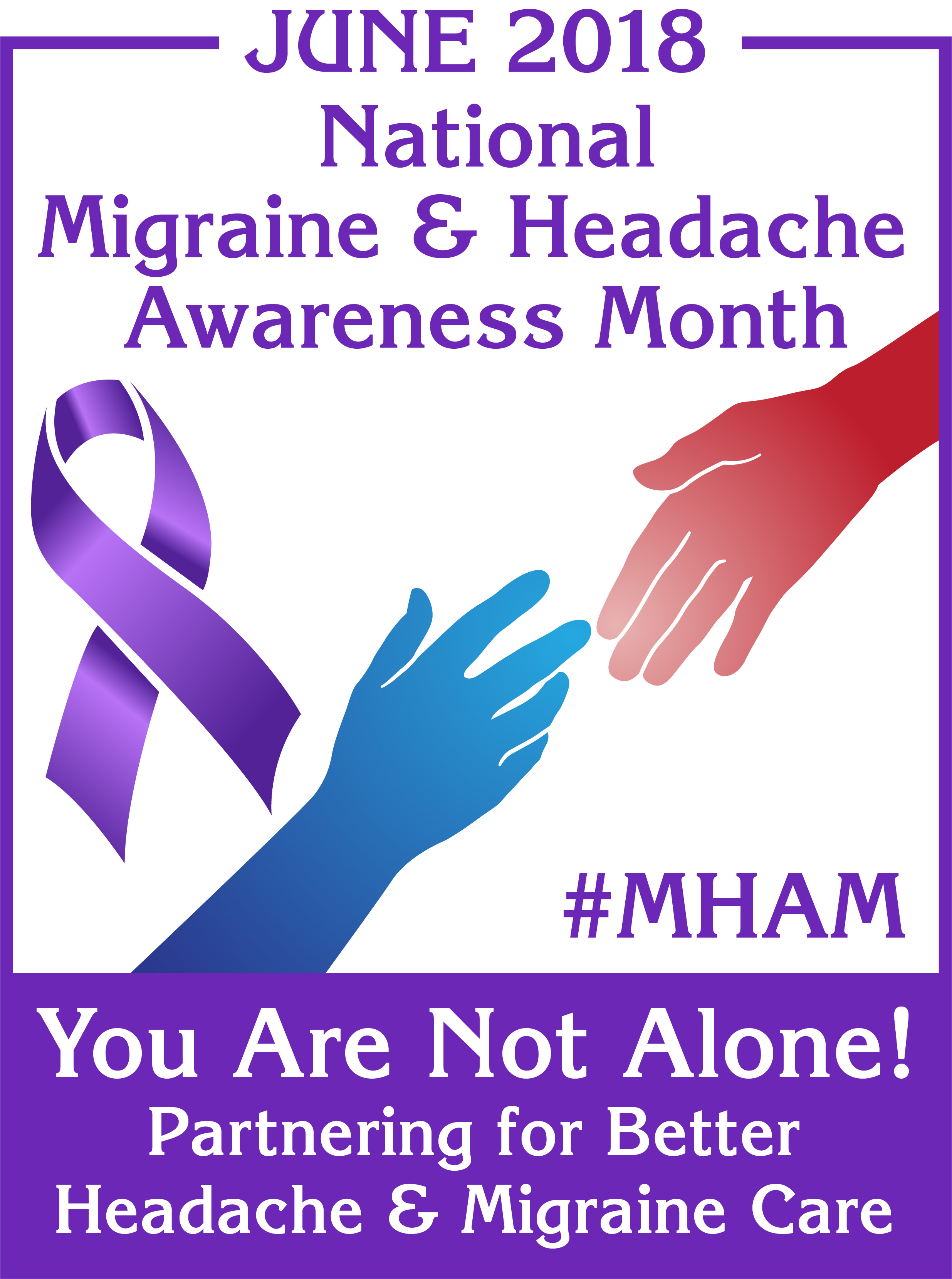 national migraine awareness poster